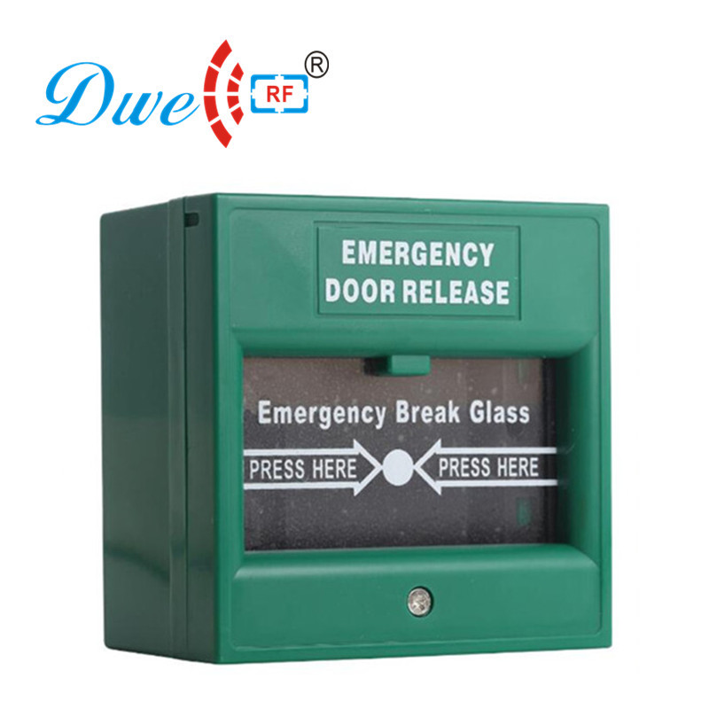 DWE CC RF  Security & Protection 12V emergency door exit button push button switch for access control system dwe cc rf 2017 hot sell 13 56mhz 12v wg 26 rfid outdoor tag reader for security access control system