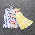 O Vestido da menina Bobo Choses 2016 Marca Criança Meninas Vestidos Roupa Dos Miúdos Graffiti Impressão Crianças Vestido de Princesa Vestido de Crianças Vestido de Verão