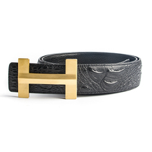 High Quality Crocodile Leather H Belts