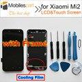 Pantalla lcd de pantalla para xiaomi mi2 alta calidad + pantalla táctil con reemplazo marco para xiaomi mi2 teléfono inteligente