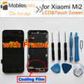 Tela para xiaomi mi2 alta qualidade display lcd + touch screen com substituição do quadro de tela para xiaomi mi2 smartphones