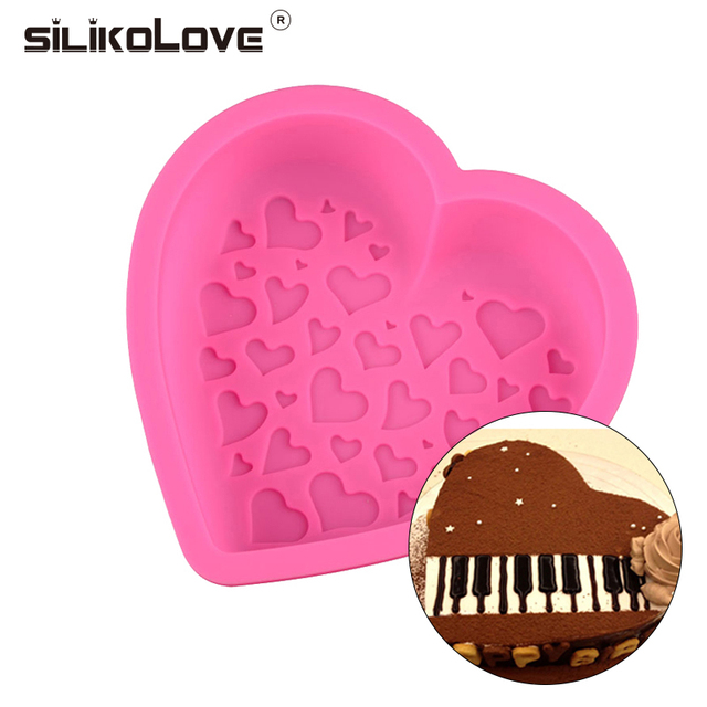 Birthday Cake Mould Big Heart Shaped Silicone Cake Mold Baking Tools