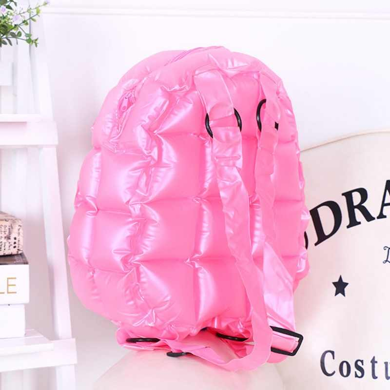 Details about  /Two Tone Cute Backpacks Fashion Colorful PVC Handbags Inflatable Shopping Women