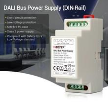 Miboxer DL POW1 dc16v din trilho dali bus fonte de alimentação 4 w max250ma led transformador para ac 110 v 220 v dali rgb cct led downlight