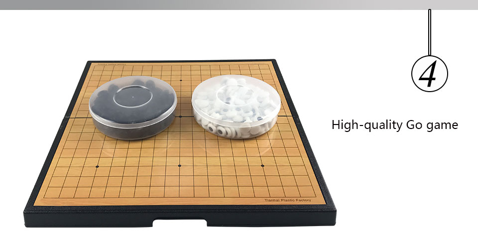 Easytoday Go Game Chess Set High Quality Plastic Folding Chess Board Magnetic Chess pieces Children Go Game Entertainment Weiqi (4)