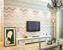 beibehang papel de parede Modern Simple Geometric Striped Nonwoven Wallpaper Backdrop Curve Abstract Pattern 3d tapety