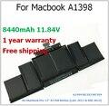 """95wh / 8440 mAh bateria do portátil para Macbook A1398 para apple ME293 ME294 para Macbook Pro 15 """" A1398 Retina"""