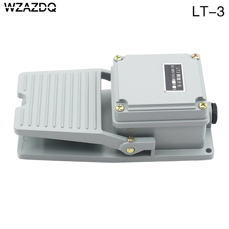 WZAZDQ Stamping Control of Foot Switch LT3 Aluminum Shell Foot Switch AC 380 v 10aWZAZDQ Stamping Control of Foot Switch LT3 Aluminum Shell Foot Switch AC 380 v 10a