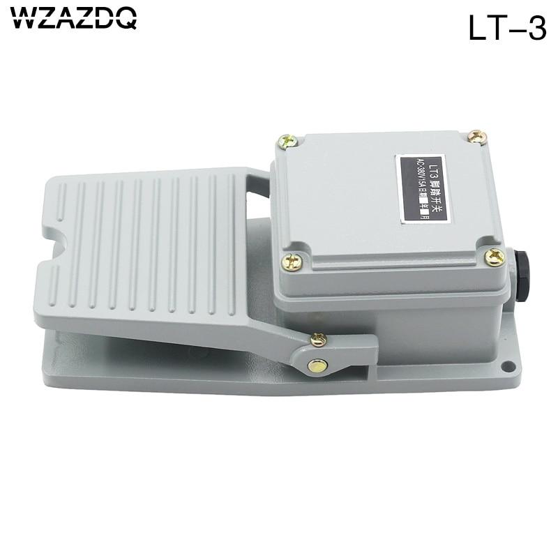 Wzazdq que carimba o controle do interruptor de pé lt3 escudo de alumínio interruptor de pé ac 380 v 10a
