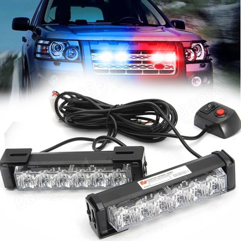 WTS Car styling lamp Truck Front Grille LED Strobe Flash Warning Light Auto Police Bar Emergency blub 12V white red blue yellow cyan soil bay car truck emergency strobe flash warning light 12v 9 led flashing police 9w lamp sucker red blue white amber