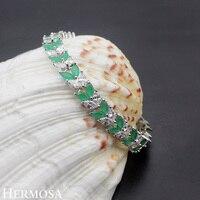 Hermosa Jewelry Charm Leaves Wheat 925 Sterling Silver Bracelets 7 1/2 inch 19cm