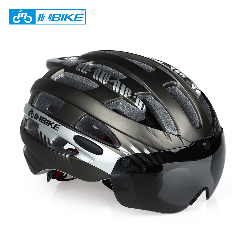 INBIKE Cycling Helmet Ultralight Bike Helmet Men Mountain Road Women MTB Windproof Glass სათვალეები ველოსიპედის მუზარადი Casco Ciclismo MX-3
