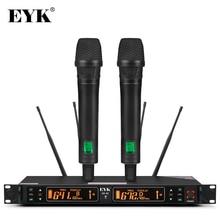 EYK EU 62 Thật Đa Dạng 2 Cầm Tay Micro Không Dây UHF 2*100 Kênh Lựa Chọn Tần Số Hoàn Hảo Cho Sân Khấu Hòa Nhạc
