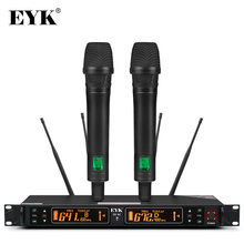 EYK EU 62, True Diversity 2 micrófono inalámbrico UHF de mano, frecuencia seleccionable de 2 * 100 canales, perfecto para conciertos vocales en escenario