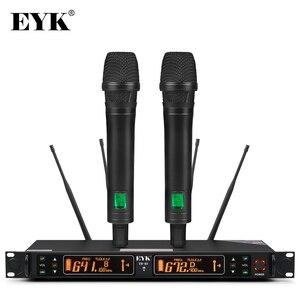 Image 1 - Eyk EU 62真の多様性2ハンドヘルドuhfワイヤレスマイク2*100チャンネル選択可能な周波数最適ステージボーカルコンサート