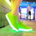 7 cores luzes LED mulheres lady shoes chaussures luminosa adulto calçados casuais high top 36-44 alta qulaity USB carregamento dropshipping