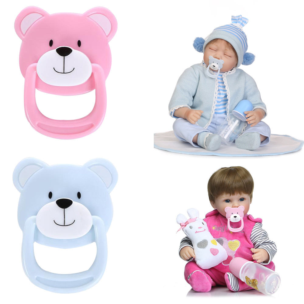 Pink Reborn Doll Supplies Dummy Pacifier+Magnet For Reborn Baby Doll Gifts  2019