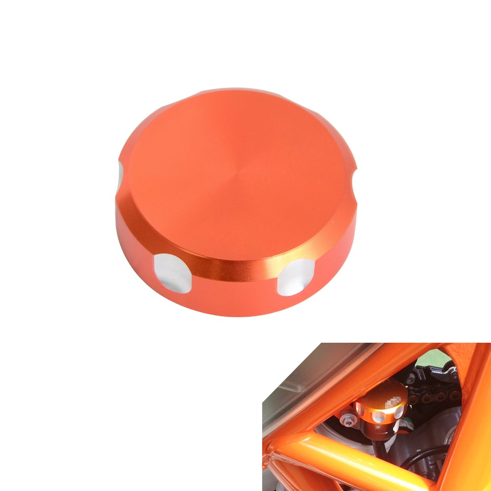 NICECNC Billet Rear Brake Reservoir Cap for KTM 690 Duke 1050 10901190 Adventure 1190 RC8 1290 Super Duke/Adventure for ktm duke 200 390 690 duke200 690 new pattern orange motorcycle front brake pump fluid reservoir cap cover modified parts