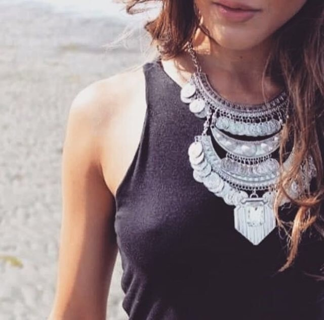 Women Vintage Statement Maxi Boho Crystal Collier Femme Necklaces Pendants Collar Bijoux Choker Fashion Accessories
