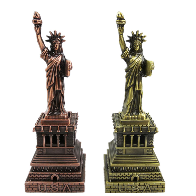 welding metal craft Statue of Liberty tourism souvenir crafts retro home decor ornaments distribution gift box