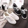 VENTA 9 colores Liberan El envío 2015 nuevo estilo de la moda caliente-venta del color del caramelo del cordón de la vendimia de las mujeres de lona ocasional zapatos de lona
