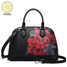 Flower Couro High Bag