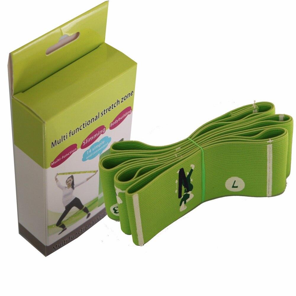 2017 Seneste Yoga Stretch Strap Yoga Strap med Multiple Grip Loops Hot Yoga Fysisk Terapi Større Fleksibilitet 14 illustreret