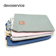 Canvas A4 File Folder Document Bag Business Briefcase Paper Storage Organizer Bag Stationery School Office Supplies Student Gift