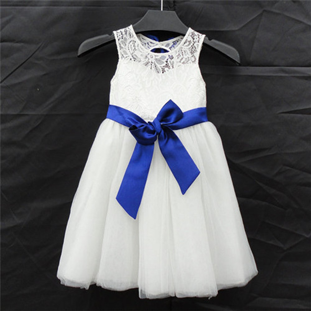 A-Line Flower Girls Dresses For Wedding Gowns Lace Kids Prom Dresses Knee-Length Mother Daughter Dresses For Girls Party