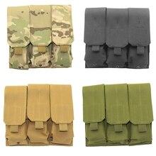 Тактический Magzine Чехол Molle тройной маг журнал сумка кобура вокруг талии сумка для M15