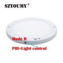 SZYOUMY, супер яркий, 15 Вт, 90-130 в, Pir сенсор, панельный светильник, Круглый, квадратный, светодиодный, сенсорный светильник, теплый белый цвет, лампы для столовой