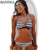 BANDEA Beach Women Halter Swimsuits Strappy Bikini 2017 Sexy Adjustable Strap Bandage Bikini In Set Sexy
