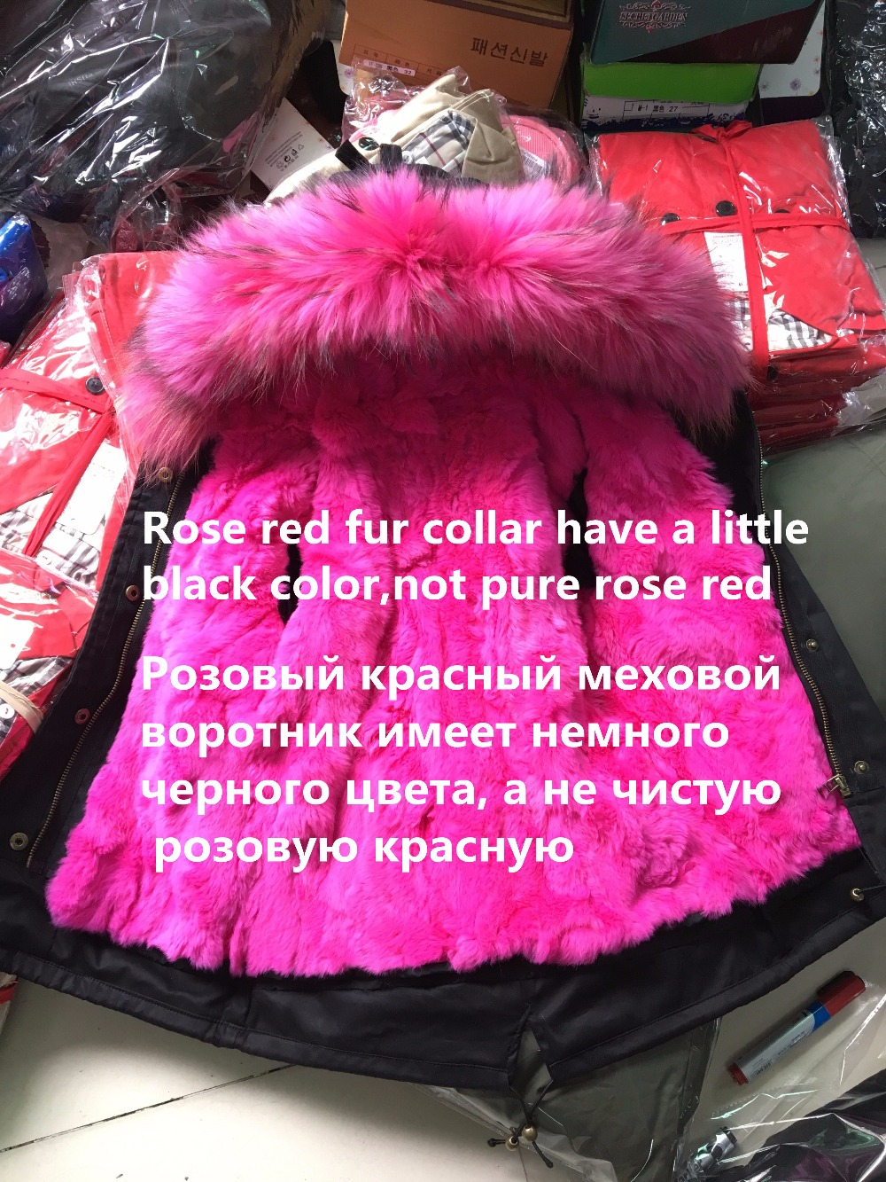 401ea2c0e UNINICE Winter Children Real Fur Parkas Boys Jackets Girls Rex ...