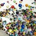720 unids Tamaños Mezclados Hierro En DMC Hotfix Rhinestones Cristalinos Muchos Colores Strass Diamantes DIY Nail Art Decoración Piedras motivo