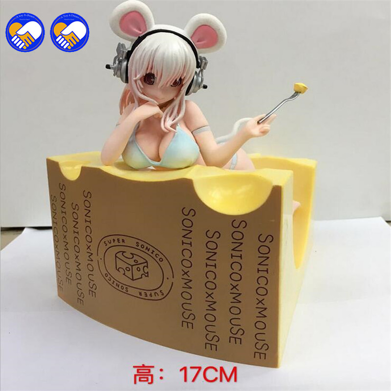 A toy A dream Anime Super Sonic Sonico Sexy wing sonic cheese Mouse Ver PVC Action Figure Doll Resin Collection Model Toy Gifts ynynoo japanese anime super sonic pvc figure sexy swimwear girl doll resin figure model collection gift toy free shipping