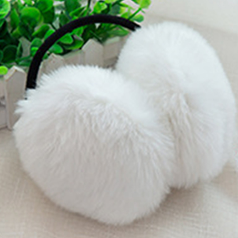 6 Color Cute Women Men Warm Fur Earmuffs Unisex Girls Winter Earwarmers Ear Muffs Warmer Faux Rabbit Fur Unisex Earmuffs