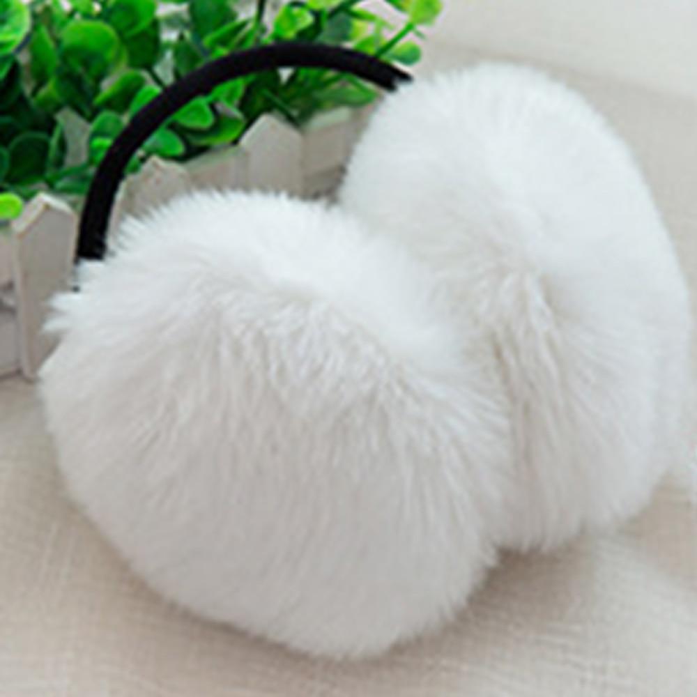 6 Color Cute Women Men Warm Fur Earmuffs Unisex Girls Winter Earwarmers Ear Muffs Warmer Faux Rabbit Fur Unisex Earmuffs