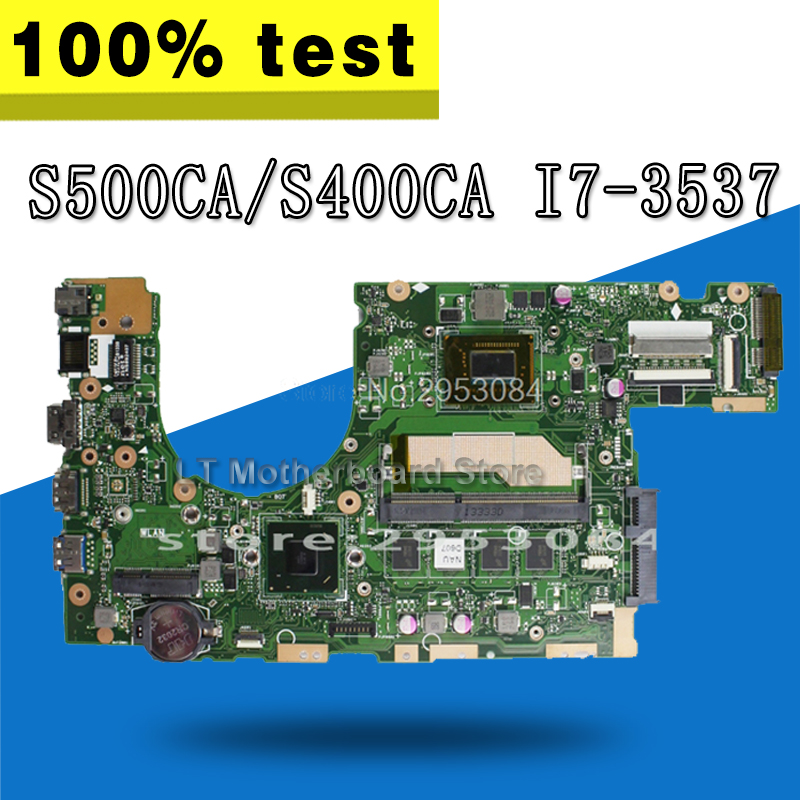 все цены на S400CA Motherboard i7-3537 4G REV3.1 For ASUS S500CA S400C S400CA Laptop motherboard S400CA Mainboard S400CA Motherboard test OK онлайн