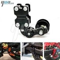 Adjustable Aluminum Chain Tensioner Bolt on Roller Motorcycle Chopper For Kawasaki Z250 ER6N NInja 250 ER6 Z1000 Z800 Z750 Z300
