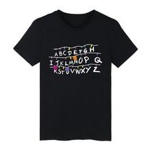 Four Colors to choose Short Sleeve Letter A-Z design T-shirt ood looking and Durable Men/Women Slim T-shirt with High quality