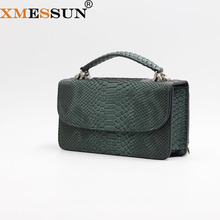 XMESSUN Luxury Genuine Python Leather Hand Bags Cross Body Shoulder Bag Snakeskin Designer Day Clutch Chain Crossbody Bag