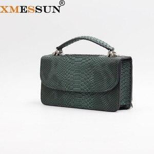 Image 1 - XMESSUN Luxury Genuine Python Leather Hand Bags Cross Body Shoulder Bag Snakeskin Designer Day Clutch Chain Crossbody Bag