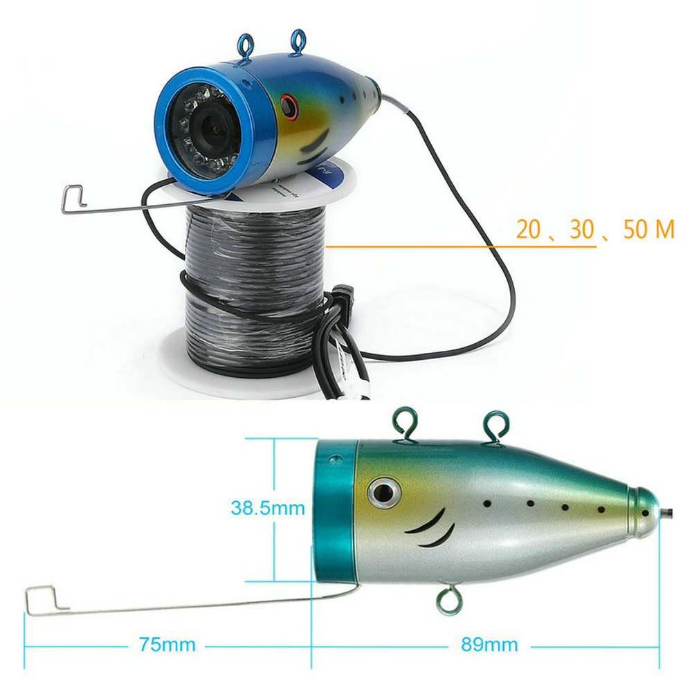1000TVL 20 m Subaquática Inventor Dos Peixes