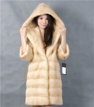 2015 winter woman fashion real mink fur LONG real mink coat 8051-Y&P