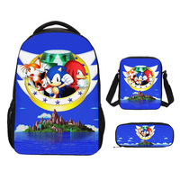 Customized School Bags Sonic The Hedgehog Print School Backpack For Girls Boys Orthopedic Schoolbag Backpacks Children Book Bag