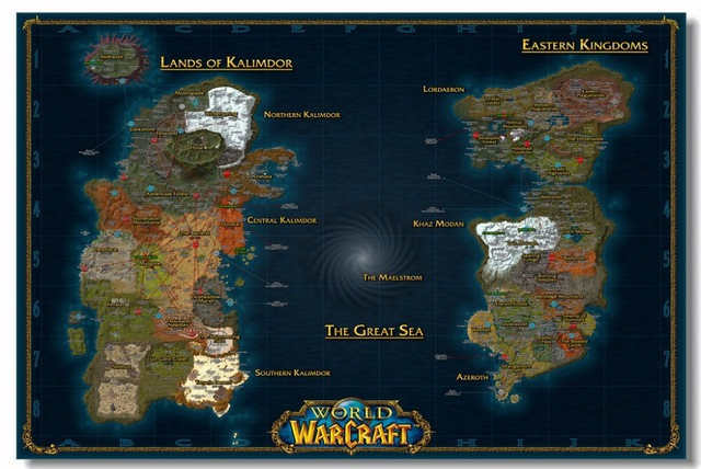 Custom Canvas Wall Mural Warcraft Wall Stickers World Of