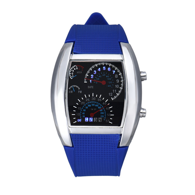 Digital Turbo-Dial Aviation Wristwatches for Men and Women