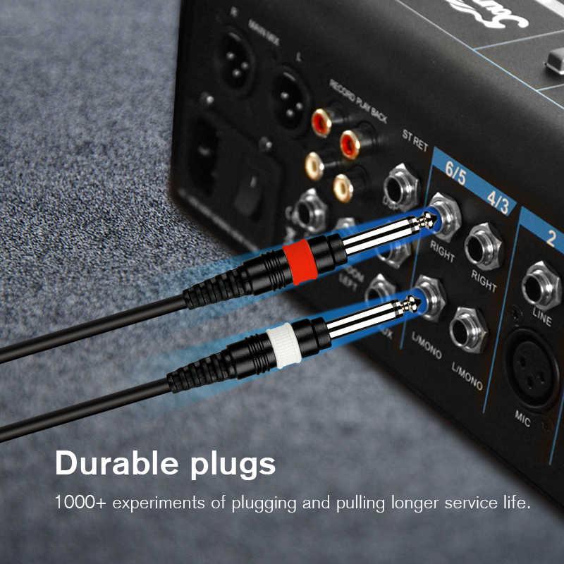 """Soundking Профессиональный аудиокабель, стерео 6,35 мм 1/4 """"Джек 2*6,35 мм кабель со штыревыми соединителями на обоих концах для подключения для гитарный усилитель, работающий на основании технологии"""" блютус """"Бесс B28"""