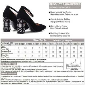 Image 5 - Phoentin kid suede rhinestone shoes women ankle strap buckle crystal strange heels party shoes for women super high heels FT299