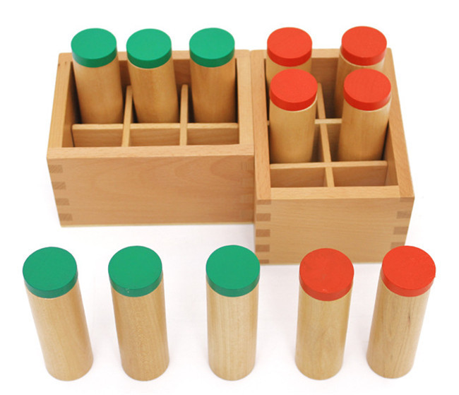 Ny tre leketøy Sound tube Mongolia og Taiwan Montessori auditiv tube lyd rør Baby leketøy Gratis frakt